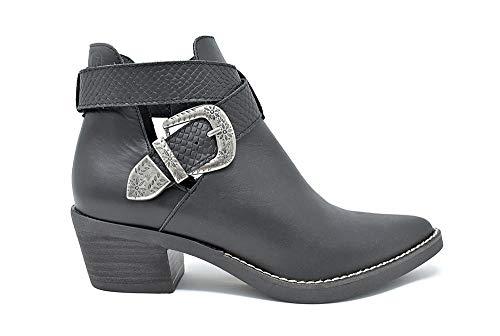 Mtng 58623 Nappaleder zwart slangenleer wit-zwart MTNG dames laarzen