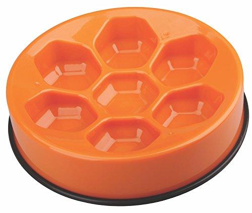 M-PETS Cavity Slow Feed Bowl Round Orange pour Chien Orange