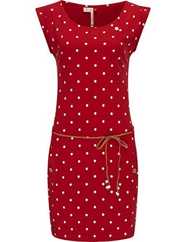 Ragwear Damen Baumwoll Jersey-Kleid Tag Dots Rot20 Gr. S