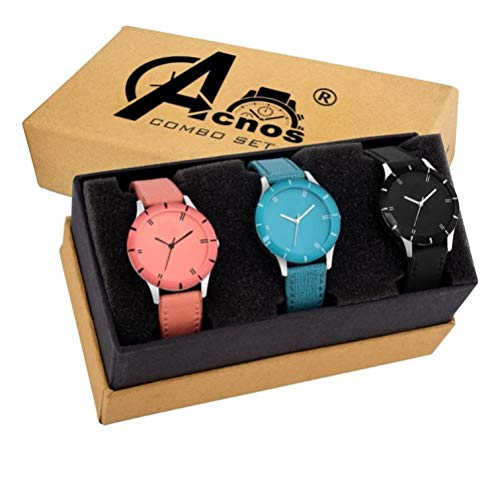 Acnos Special Super Quality Analog Watches Combo Look Like Preety for Girls...