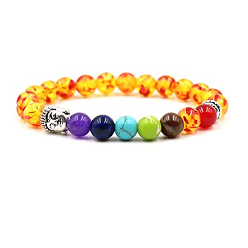 PULABO Buddha Head Beads Natural Stone Yoga Bracelet Bangles, Style 7 Creative and Useful Practical, Cost-Effective
