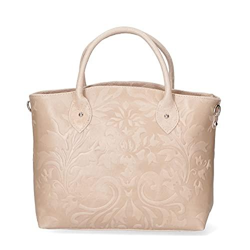 Chicca Borse Borsa tote donna borsa a mano in pelle camoscio stampato borsa...