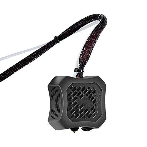 Creality Ender 3 V2 Full Hotend Kit de accesorios para impresora 3D, kit de boquillas montado con ventiladores dobles y carcasa ABS para Ender-3 V2