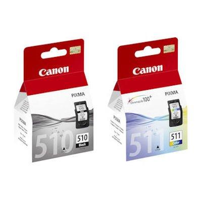 Canon PG510(PG-510) negro y CL511(CL-511) cartucho de tinta a color para Pixma MP492impresoras