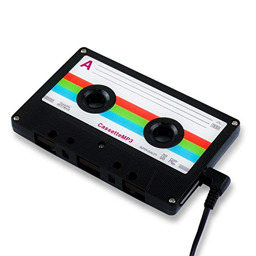 8BEAT Cassette MP3 Player from BTS MV – 8GB Retro Music Player | Great Gift with 80s 90s Analog Design | Shuffle Mode, Touch-Key, Clear Case, 2 DIY Label Stickers | MP3 Player for Kids | Black