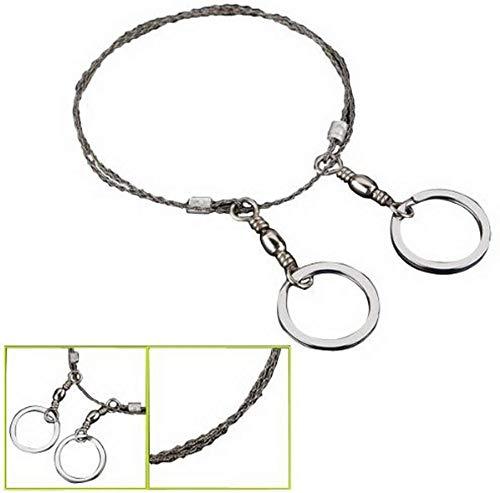 Sierra de cable de emergencia (acero, anillas de metal)