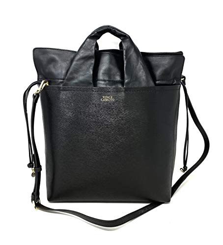 Vince Camuto Asti Tote With Removable Strap Black leather, Medium