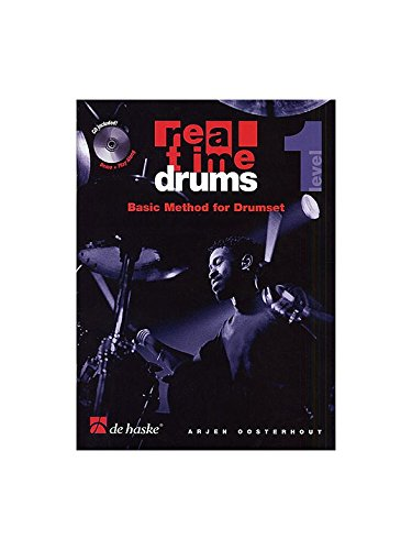 Real Time Drums: Basic Method For Drumset - Level 1. Partituras, CD para Batería