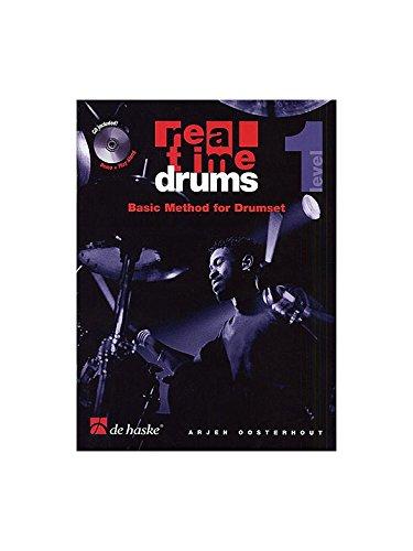 Real Time Drums: Basic Method For Drumset - Level 1. Für Schlagzeug