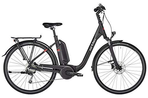 ORTLER Bozen Wave 2019 - Bicicleta de trekking eléctrica para mujer (altura del cuadro 50 cm), color negro mate