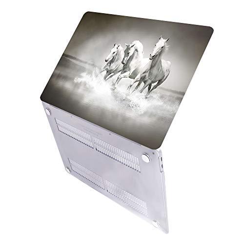MAITTAO Case Voor MacBook Pro 16 inch 2019 Release A2141, Plastic Patroon Harde Shell & Laptop Sleeve Bag & Keyboard Cover Voor Mac Pro 16-inch Retina Touch Bar & ID 4 in 1 Bundel, Akhal-Teke Paard, A2141 MacBook Pro 16 Touch Bar & ID, Akhal-Teke Paard 20