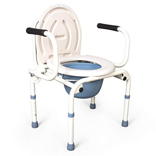 WUYUEUN. Składany Krzesło Commode Healthcare Przenośne regulowane Wysokość Mobile Nad Toaleta Siedzisko z krzesłem prysznicowym dla starego człowieka w wrzeszczu