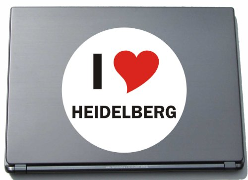 I Love Aufkleber Decal Sticker Laptopaufkleber Laptopskin 297 mm mit Stadtname HEIDELBERG