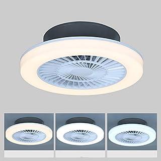 Plafonnier Ventilateur,75W Ventilateur De Plafond Dimmable Invisible Plafonnier Ventilateur Moderne Vitesse du Vent Réglab...