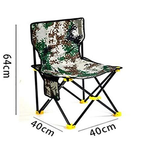 RMLC Sedia da Pesca Pieghevole per Esterni Camouflage Portatile Multifunzionale Escursione da Campeggio PIC-nic Viaggi ricreativi, 40 cm