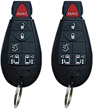 SaverRemotes 6 Button Key Fob Compatible for 2008-2015 Chrysler Town and Country,2008-2014 Dodge Grand Caravan