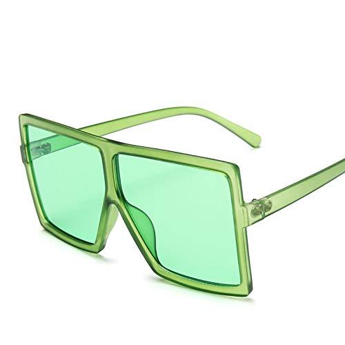 Gafas de Sol Sunglasses Gafas De Sol Cuadradas Clásicas Vintage para Mujer, Gafas De Sol De Gran Tamaño Siameses, Gafas De Sol Retro para Mujer/Hombre C27