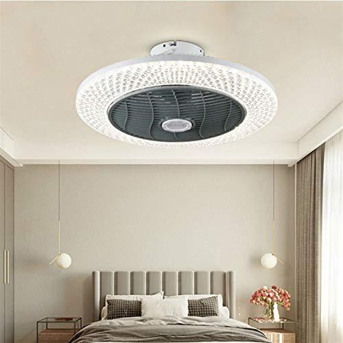 DULG Lámpara de ventilador LED Ventilador de techo Ventilador de techo 220V / 110V Lámpara de ventilador para el hogar Luz de ventilador de viento frío y cálido Luz de ventilador de viento, silencioso