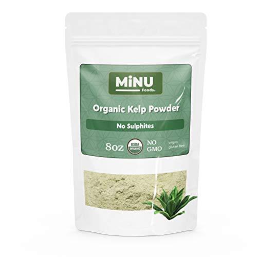 MiNU Organic Nova Scotian Kelp Powder (8 oz) #1 Smoothie Mix, MiNU Mindful Nutrition, No Sulfur, No Added Sugar, Dried, Superfood, Raw, Paleo, Vegan, NonGMO, Gluten Free gomix