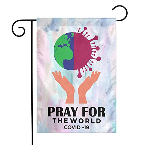 Pray For The World Coron-Avirus Vertical Double Sided Outdoor Flag Yard Banner Flags