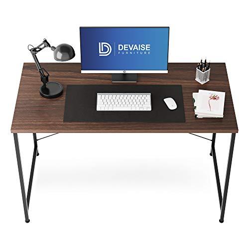 DEVAISE デスク 机 パソコンデスク ワークデスク 幅120*奥行60cm モニターアーム取付対応 組立簡単 ダークブラウン ORASZ612WB※ 通常1~2日以内に発送します※