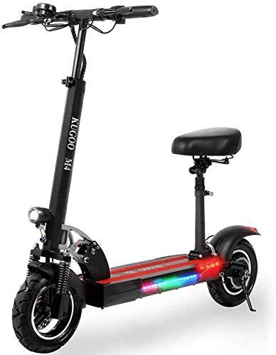 Scooter Kugoo M4 500W, Scooter eléctrico Plegable de Alto Rendimiento, batería de Iones de Litio de 10H, Pantalla LCD, Tres Modos de Velocidad, Adecuado para Adolescentes y Adultos