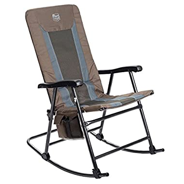 Timber Ridge Smooth Glide Lightweight Padded Folding Rocking Chair for Indoor and Outdoor support 300lbs