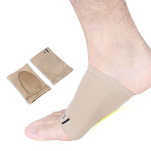 Gelboogondersteuning, zacht siliconengelcorrectiekussen, voetkussen met binnenzool voor pijnverlichting bij gebruik van de hielbescherming