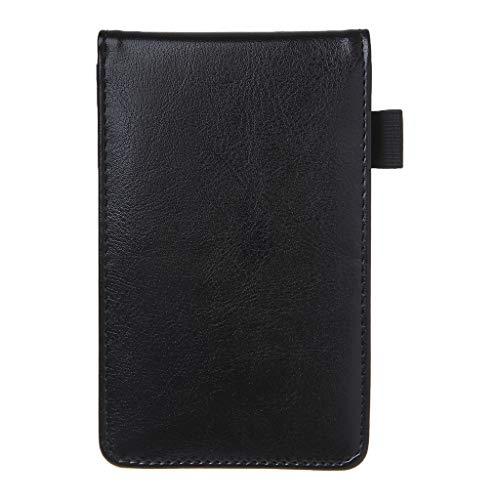 XXguang - Multifunktionaler Taschenplaner, A7-Notizbuch, kleiner Notizblock, Ledereinband, Geschäftstagebuch, Memos, Schreibwarenbedarf