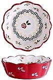 HGXC Set di Ciotole per zuppa/Cereali in Ceramica Set di Ciotole per Frutta per Insalata di Cereali con Gelato di zuppa