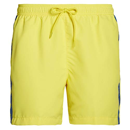 Calvin Klein Core Logo Drawstring Swim Shorts - Golden Kiwi Large