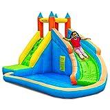 PLAY4FUN Château Aquatique Gonflable pour Enfants 4m : Aire de Jeux avec Escalade, Tobbogan et Piscine / Pateaugoire - L400 x P300 x H250 cm - Aqua Park
