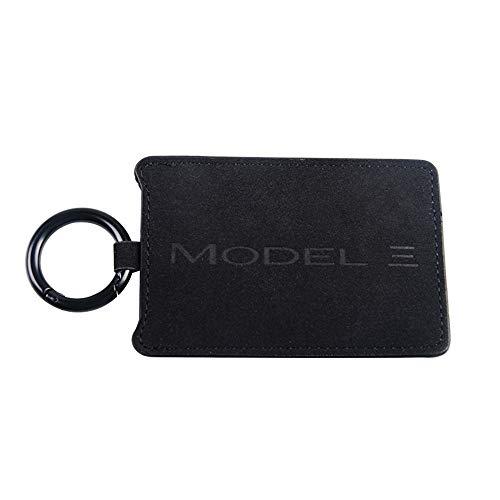 Model 3 Autoschlüssel-Kartenhalter-Schutz-Abdeckungs-Schlüsselanhänger-Kasten-Kettenschlüsselring-Satz (Black)