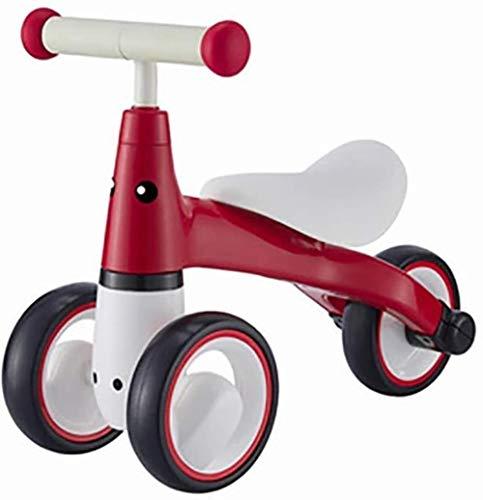 juguete Lyl Baby Balance Car No Bike Children Walker Coche 1-3 AÑOS Libros BEBÉ 3 Rondas (Color : Red)