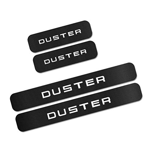 NTUOO 4Pcs Auto Schwellen Aufkleber Kohlefaser Einstiegsleisten, für Renault Dacia Duster Türschweller Stoßstangen Trittbrett Kratzer Lackschutzfolie, Car Styling Zubehör
