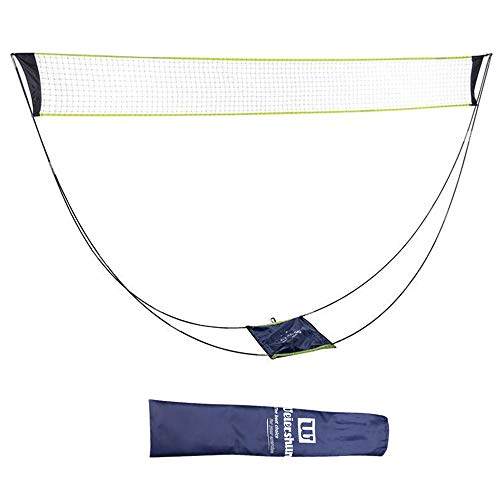 Airsnigi Badminton Net,Portable Badminton Net Set with Stand Carry Bag,Foldable Tennis Volleyball Net for Indoor Outdoor Sports