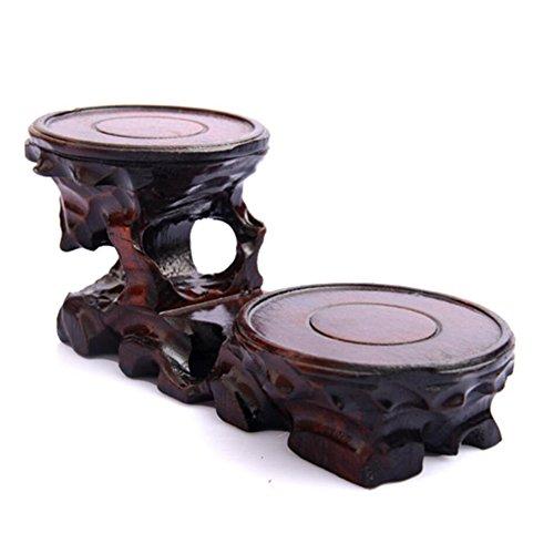 Understand Basis für Vase aus Holz geschnitzt, Wurzelschnitzbasis für Teekanne, holz, 8.5x3.2x3.15 inch