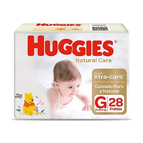 Fralda Huggies NATURAL CARE G 28 unidades
