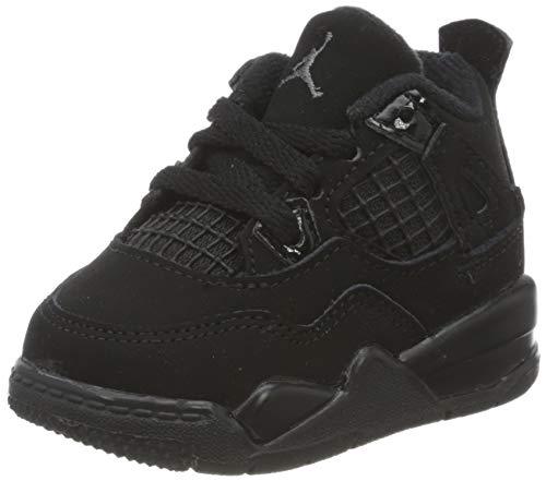 Nike Jungen Jordan 4 Retro (td) Basketballschuh, Black/Black-Lt Graphite, 27 EU