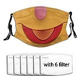Wokka Wokkaunisex Cotton Cloth Face Masks Reusable Washable,Anti-Fog Dust-Proof Mouth Coverwith 6 Filter