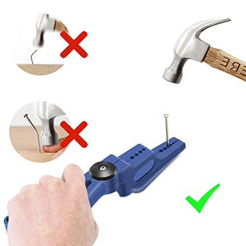 Plastic Pliers, Home Tool Auxiliary Pliers, Jelanry Secure Nails Anti-smashing finger Joint Pliers for More Safety for Hammering Nails Easy to Position and Keeps Fingers Safe