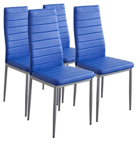 Albatros 2705 Milano 4 x Esszimmerstuhl, blau