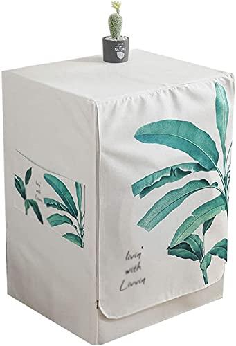 Tapa para lavadora con tapa de 3 lados para lavadora de carga frontal, resistente al polvo (60 x 65 x 85 cm)