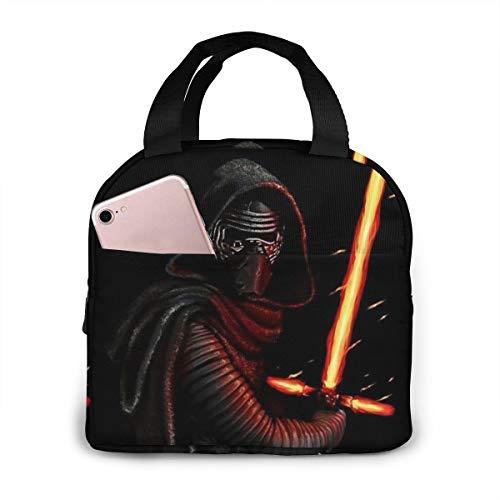Bolsa de almuerzo aislada para hombres y mujeres, diseño de espada láser Star Wars resistente enfriador y caja térmica para almuerzo para escuela, trabajo, picnic