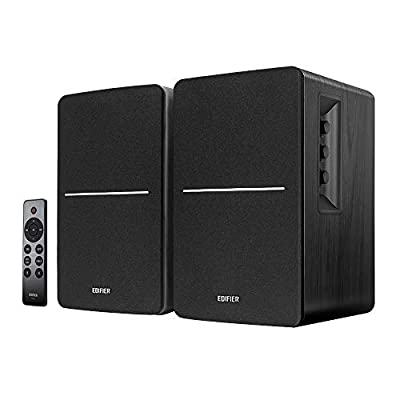 Edifier R1280DBs Active Bluetooth Bookshelf Speakers - Optical Input - 2.0 Wireless Studio Monitor Speaker - 42W RMS with Subwoofer Line Out - Black by Edifier