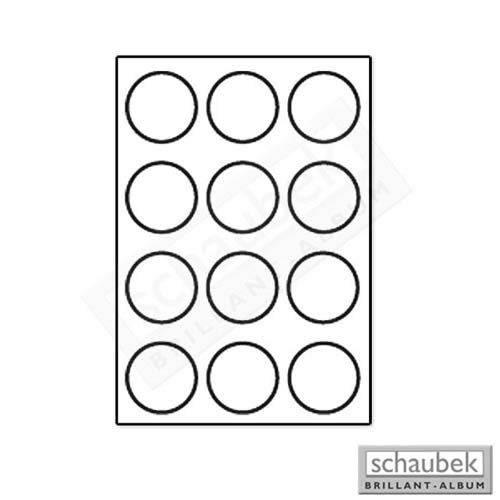 Schaubek Numismatik Münzkollektion Münzschuber Solo, blau K812