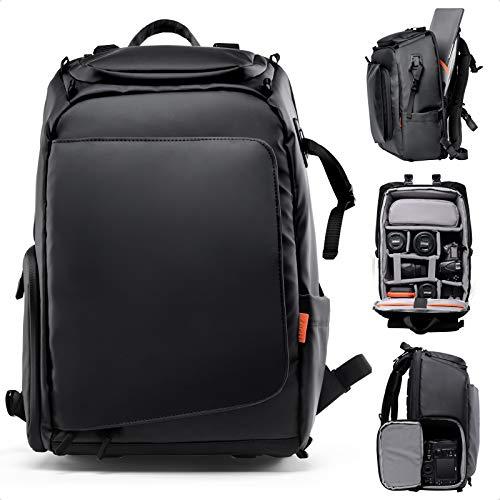 Zecti Kamerarucksack Wasserdicht Fotorucksack DSLR/SLR Kameratasche Rucksack Camera Backpack mit Anti-Schwerkraft-System, Laptop-Fach, Stativhalter, Regenschutz für Damen und Herren