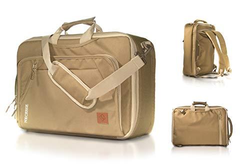 Necesse® Business Rucksack Herren (Braun) – Umwandelbarer All-in-One Backpack – Handgepäck Rucksack mit Laptopfach – Daypack für Arbeit und Uni