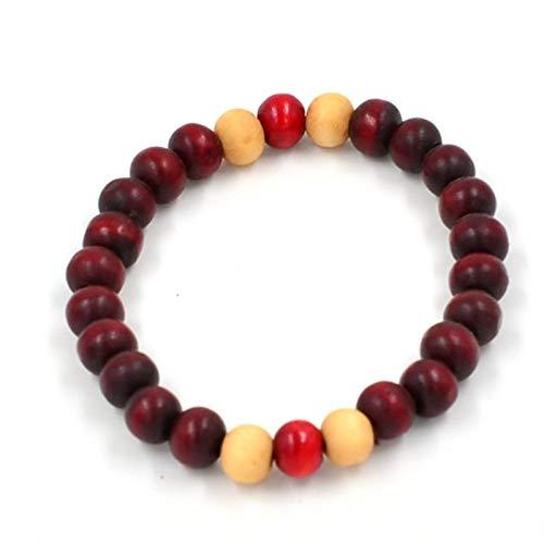 Nobrand 8Mm Sandelholz Buddhist Buddha Meditation Gebet Handgemachte Perlen Frauen Männer Armband Holzschmuck Yoga Armbänder