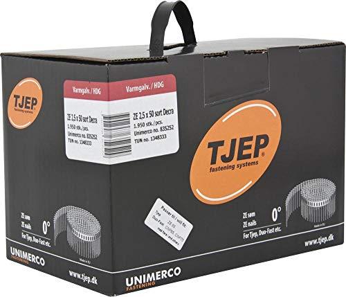 2,5x50mm Ring feuerverzinkt schwarz DEKRA IcoPal Tjep ZE Duo Fast Paslode Coilnägel 0° plastmagazini